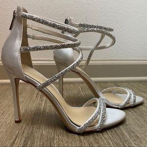Jessica Simpson Jamalee White Strappy Heel/Sandel